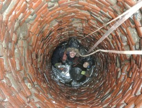 at the bottom of the well