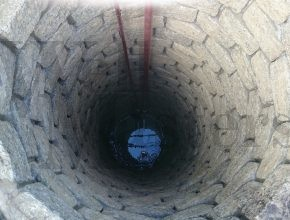 Sunk well lined